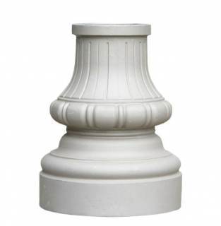 Ornamental Post Base Unpainted Street Base, fitting 3, 4 or 5 inch round sign post or mail box post