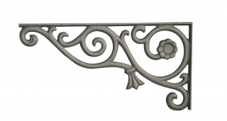 Cast Aluminum Decorative Mailbox and Sign Bracket