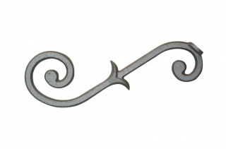 Cast Aluminum Mailbox Scroll