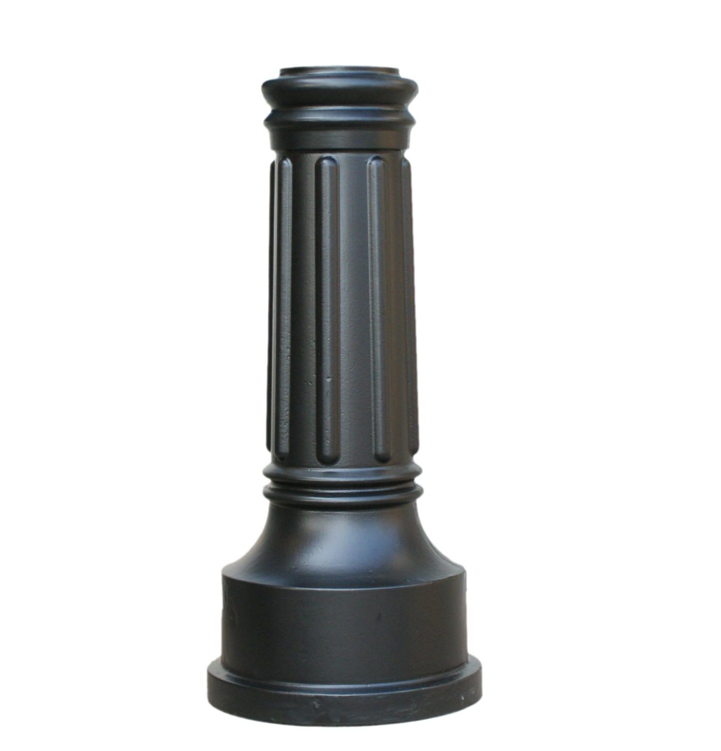 Decorative cast aluminum post base