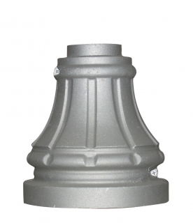 Cast Aluminum Decorative Split Base, fitting 3 inch round post