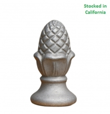 Decorative Cast Aluminum Unpainted Acorn sign finial, fitting 3 inch round sign pole, wholesale