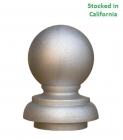 Ornamental Cast Aluminum Unpainted Sign Post Finial, fitting 3 inch round sign posts