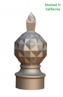 Pine apple finial, fitting 3 inch round sign post